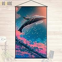 COSMORE アニメの風景 自然 田園風景 カスタム カスタマイズ オーダーメイド タペストリー ポスター 壁掛ける絵画 約60cmX90cm