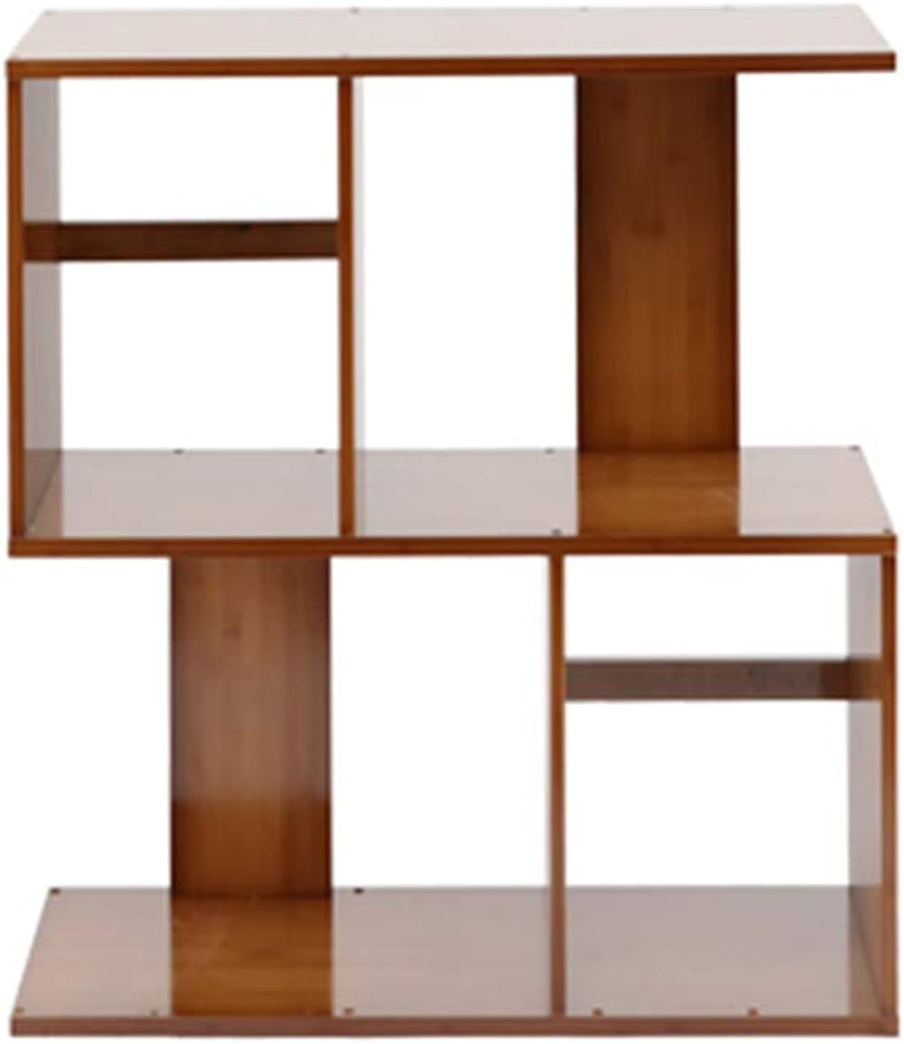 Xiaomei,Bookcases Bamboo Shelf Simple Rack Living Room Floor Bookcase Creative Small Bookshelf Multi-Size Optional (color   2 Layer, Size   60CM)