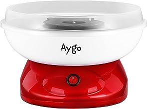 Aygo Machine à barbe à papa pour la maison - Design rétro Candy Floss - Avec cuillère à mesurer - 500 W