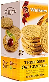 Walkers Shortbread Three Seed Oat Crackers, 9.9 Ounce Traditional Oatcake Crackers