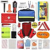 ZHSX Kit d'urgence pour voiture, kit de sécurité pour véhicules et bateaux avec sac de rangement de qualité supérieure