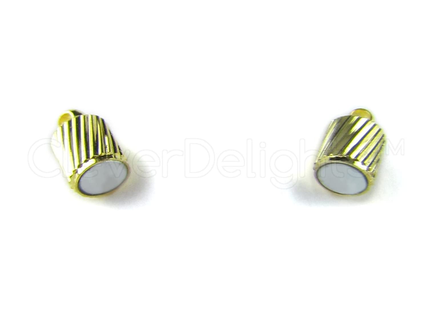 CleverDelights 20 Magnetic Jewelry Clasps - Spiral Style - Gold Color - Necklace Magnet Clasp Converter