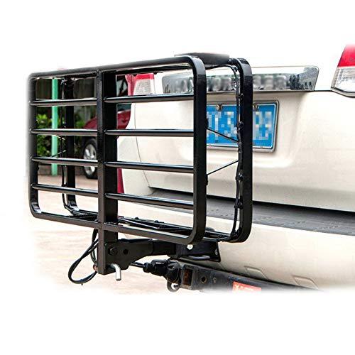 BLLJQ Portaequipajes con Soporte A Enganche De Remolque Cuadrado, Acero Carbono, para SUV Truck ATV Vehículos