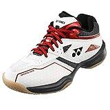 Yonex SHB 36 - Zapatillas de bádminton para niño, color blanco y rojo, color Blanco, talla 32 EU