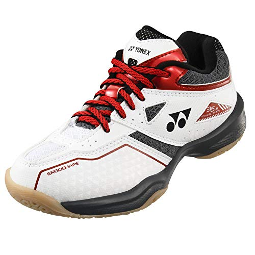 Yonex Power Cushion 36 JUNIOR, weiß/rot - weiß, 38