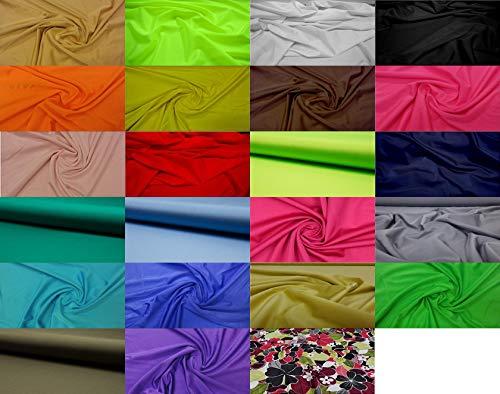 Fabrics-City Tessuto Costume da Bagno in Lycra Molto Elastico caffè al Latte, 2844