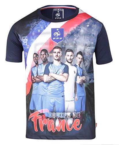 Frankreich Fußballtrikot Team FFF – Offizielle Kollektion Kindergröße Jungen 12 Jahre blau