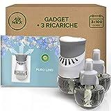 Airwick Diffusore di Oli Essenziali Elettrico, 1 Confezione con 3 Ricariche, Fragranza Puro Lino - 55 g