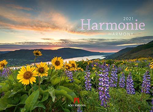 Harmonie Kalender 2021, Wandkalender im Querformat (45x33 cm) - Inspirationskalender / Naturkalender