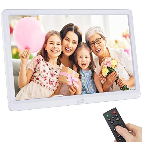 Cornice Digitale, Rokurokuroku 10 pollici IPS Display, 1080x1920 Alta Risoluzione Cornice Foto Digitale per la Riproduzione di Foto, Video e Musica, Telecomando, Supporta USB e scheda SD (Max 128G)