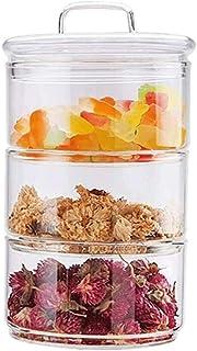 Pots et Bocaux de Conservation Bocaux Pot de nourriture en verre avec couvercle en verre Colle de rangement en verre Conte...
