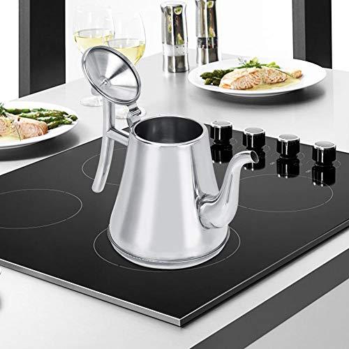 【𝐇𝐚𝐩𝐩𝒚 𝐍𝐞𝒘 𝐘𝐞𝐚𝐫 𝐆𝐢𝐟𝐭】Kaffeekanne, silberner Wasserkocher, Bürogebäude aus Edelstahl für das Hotelrestaurant(1.8L)
