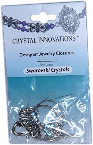 Swarovski Crystal Innovations Feather & Leaf Lt. Sapphire Blue Bracelet Kit (2)