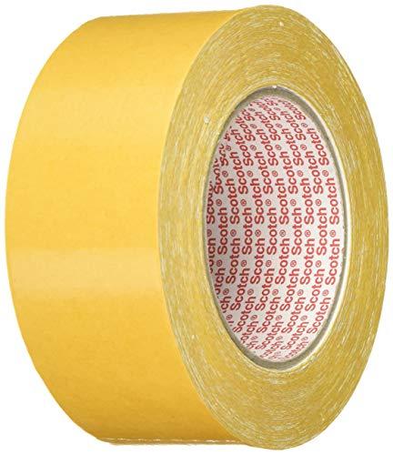 3M Doppelseitiges Klebeband 9191 in Weiß 50mm x 25m – Verlegeband für Klebearbeiten verschiedener Werkstoffe und Textilien – 1-er Pack
