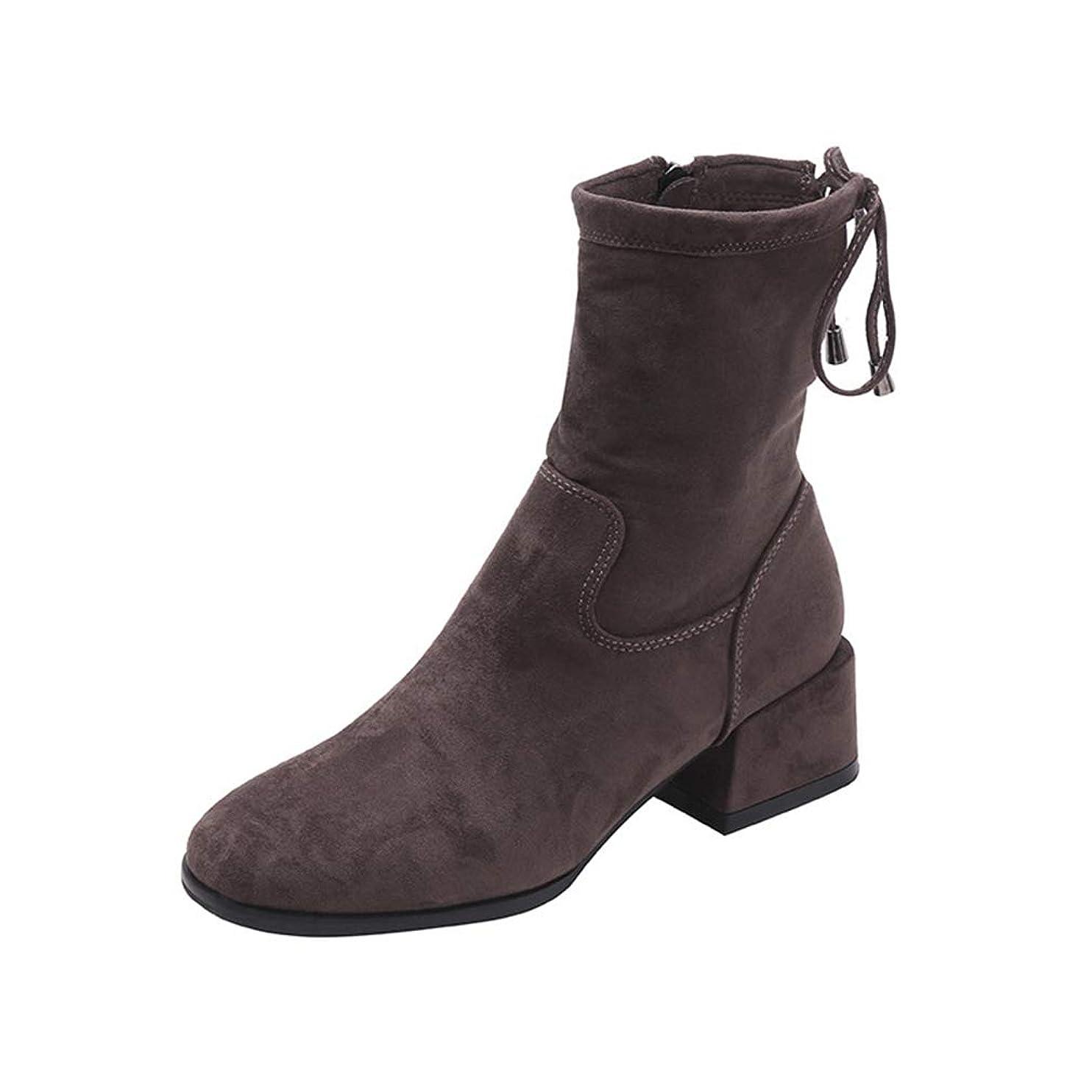 すずめ沿って数学的な[ノーブランド品] [QIFENGDIANZ]レディースブーツ マーティン?ブーツ カラオケ 大きいサイズ 歩きやすい 秋冬靴 防寒 防滑 つま先尖って 厚底 ヒール ショートブーツ 美脚 かわいい レオパード 通勤 アウトドア グレー 22.5cm