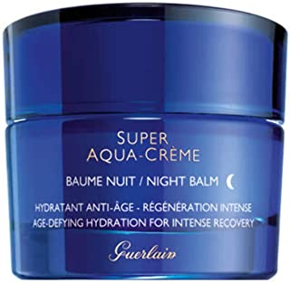 Guerlain Super Aqua Creme Night Cream - Age-Defying Hydration for Intense Recovery for Women, 50 ml