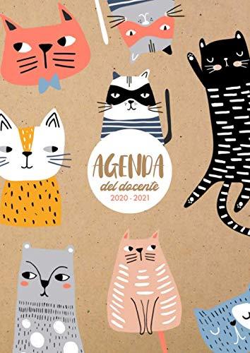 Agenda del Docente 2020 - 2021: 21x29,7cm, due pagine per settimana, motivo gatto