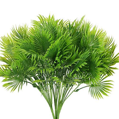NAHUAA 4Pcs Künstliche Blätter Deko Tropische Pflanze Monstera Pflanze Grün Blätter für Tür Wand Haustür Outdoor Garten Hochzeit Party Grün