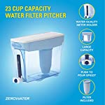 ZeroWater ZD-018 ZD018, 23 Cup Water Filter Pitcher with Water Quality Meter 17 Included Components: Zerowater Zd-018 23-Cup Water Dispenser And Filtration System;Electronic Tds Water Testing Meter;1- Zerowater Filter Cartridge That Removes Contaminants That Cause Water To Have An Unpleasant Taste