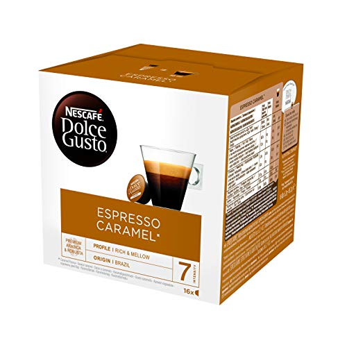 NESCAFÉ Dolce Gusto Cápsulas de Café Espresso Caramel, Pack de 3 x 16 Cápsulas - Total: 48 Cápsulas de Café