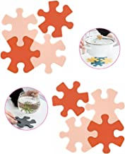 8 Pcs Silicone Pot Holder 、 Creative Puzzle Pot Holder, Thickened Dining Table mat, Silicone Coasters, Casserole mat, Non-...