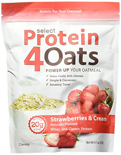 PES Protein 4 Oats Strawberries & Cream 12 Serving, 246 g