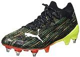 Puma Ultra 1.2 MxSG, Zapatillas de fútbol, Negro Black White Yellow Alert, 38 EU