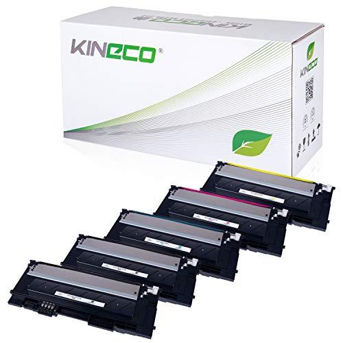 5 Toner kompatibel mit CLP-320 für Samsung CLP-325, CLX-3180, CLX-3185 - Schwarz je 2.500 Seiten, Color je 2.000 Seiten