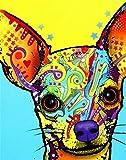 Pintar por Numeros DIY Cuadro al óleo con números Color pintado mascota perro chihuahua animal para Kit de Pintura al óleo Digital para Adultos y niños de Lienzo decoración para el hogar