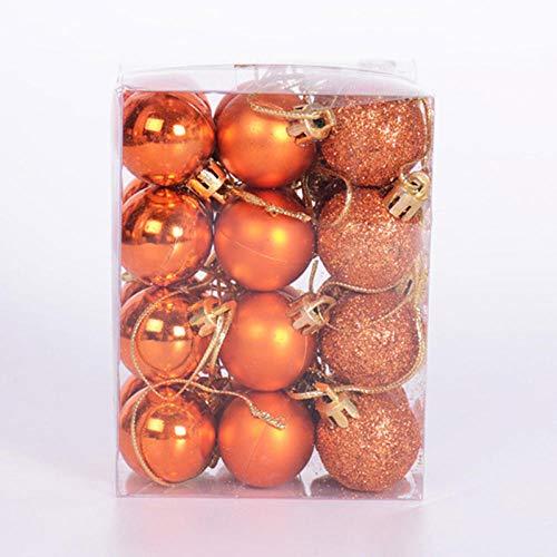 JVU Christmas Balls Gadgets Brillantes Modernos Suministros De Decoración De Plástico Adornos De Boda 24 Piezas Colgantes De Cumpleaños De Fiesta-C-4Cm