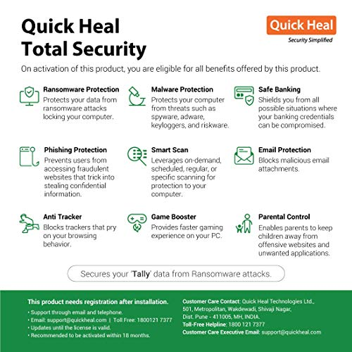 Quick Heal Total Security Renewal Upgrade Silver Pack - 1 User, 1 Year (Email Delivery in 2 hours- No CD)-Existing Quick Heal SINGLE USER... 2