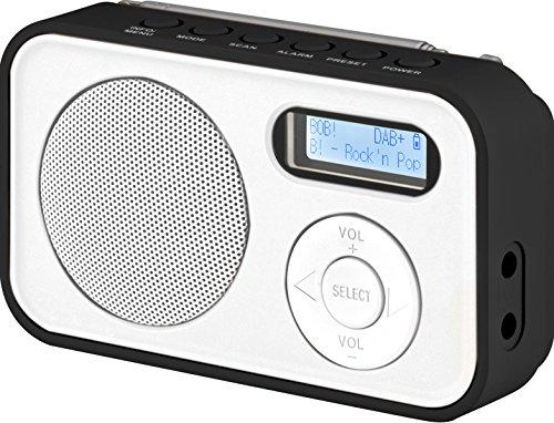 Imperial DABMAN 12 tragbares Digitalradio (DAB+/UKW, LCD Bildschirm, Akku, 3X AAA Batteriebetrieb) weiß