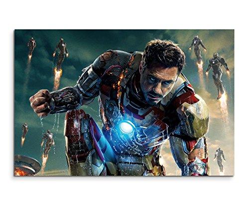 Iron Man Fight Wandbild 120x80cm XXL Bilder und Kunstdrucke auf Leinwand