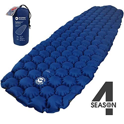 ECOTEK Outdoors Insulated Hybern8 4 Season Ultralight Inflatable Sleeping Pad with Contoured...