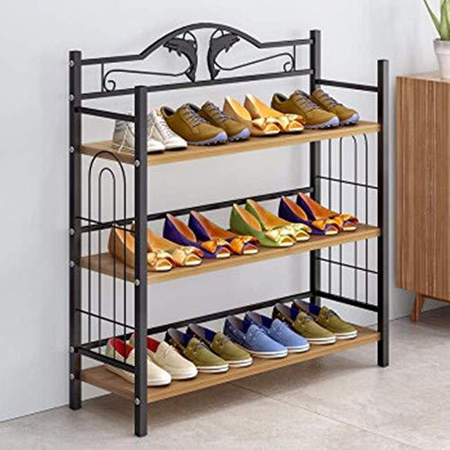 Pkfinrd - Zapatero Organizador de Zapatos para Dormitorio con múltiples Capas Simples a Prueba de Polvo para el hogar, Montaje económico, Puerta de Zapatero de Almacenamiento, Gris, 81x24x77cm