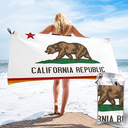 Bandera del Orgullo Gay LGBTQ de California Microfiber Toalla de Playa, Toalla de Secado rápido, Toalla de Viaje, Toalla Deportiva, Toalla de Yoga