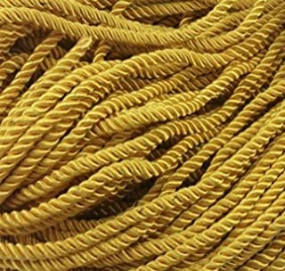 ArRord Gold Shiny Twist Cord Choker Thread Twine String Rope Piping Supplies Chain 3 Yards