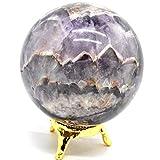 Healing Crystals India, sfera di ametista naturale viola di cristallo, raro quarzo lucido, pietraminerale, 1 pezzo, 55-60 mm