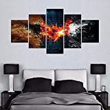 Amacigana Póster de Batman El Caballero Oscuro DC Película sobre lienzo para decoración del salón (sin marco)