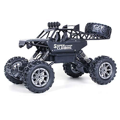 GKLHC 1/10 Coche de Juguete RC de Alta Velocidad, Escalador, camión Monstruo, Todo Terreno, Buggy, Coche de Escalada Ligero de Gran tamaño, camión de aleación de 2,4 GHz para niños y niñas, Regalo de