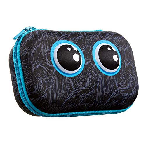 ZIPIT Beast Pencil Box for Kids, Cute Storage Case for School Supplies, Holds Up to 60 Pens, Secure Zipper Closure, Machine Washable (Black)