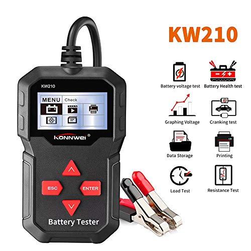KONNWEI KW210 Auto Batterietester Digital 12V Belastungstest und Analysator für Batterielebensdauer, Spannung, Widerstand und Deep Cycle Batterie