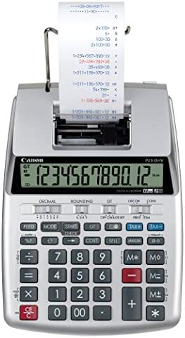Canon P23 DHV 3 Printing Calculator with Double Check Function Tax Calculation and Currency product image