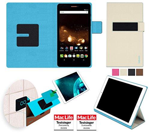 reboon Hülle für Acer Iconia Talk S A1-734 Tasche Cover Case Bumper   in Beige   Testsieger