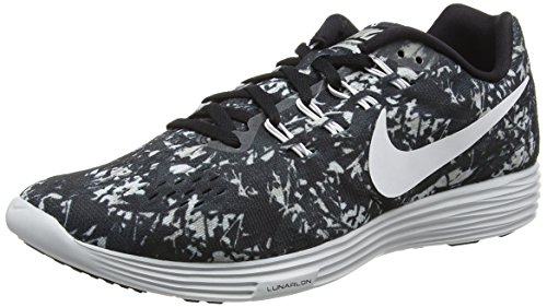 Nike Lunar Tempo 2 Print Herren Outdoor Fitnessschuhe, Schwarz (1), 44 EU