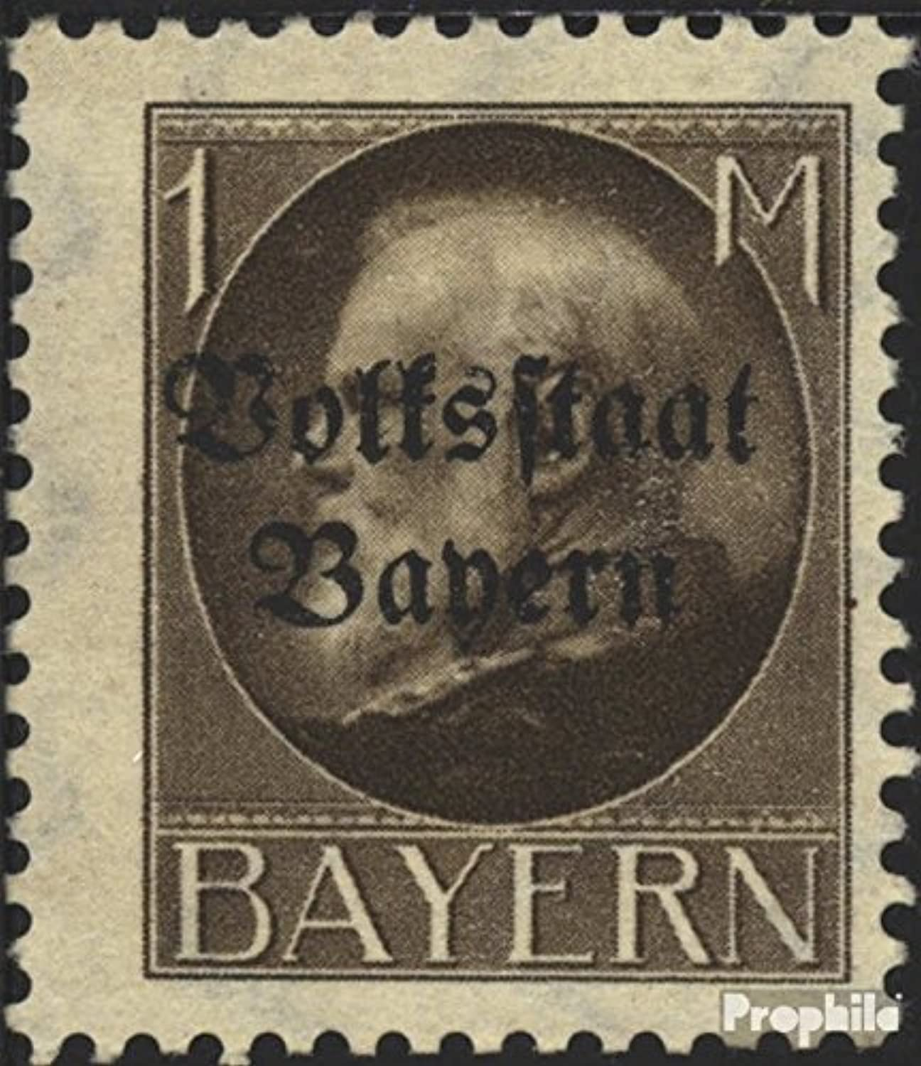 Bavaria 128I A B tested, Print Purple Black 1919 King Ludwig with Print (Stamps for collectors)