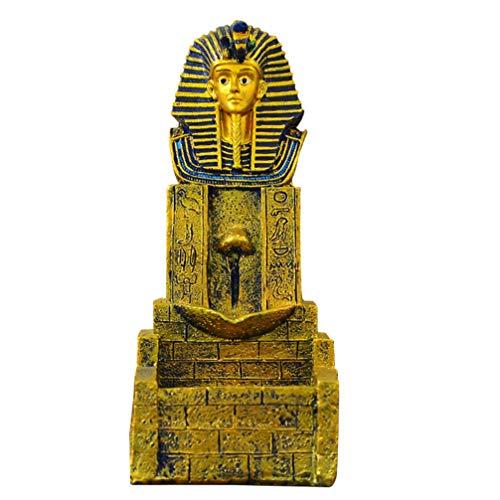 VOSAREA Quemador de Incienso de Reflujo Estatua Egipcia Incensario de Egipto Incensario de Aromaterapia Incensario Adorno para Yoga Hogar Oficina Artesanía Decoración Ornamento