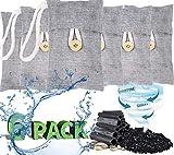 RUN HELIX - Sacchetto di purificazione dell'aria, elimina gli odori per auto, armadi, bagni e aree per animali domestici (6 x 100 g)