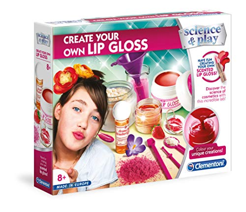 Clementoni 61774 61774-Create Your Own Lipgloss, Mehrfarbig