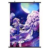 ゲーム東方ウォールスクロール壁画ポスター壁掛けポスター室内装飾アートコレクション 19.7x29.5inch/50x75cm